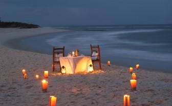 Beach dinner after sunset