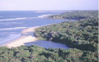 Aerial view of Ras Kutani, luxury hotel in Tanzania
