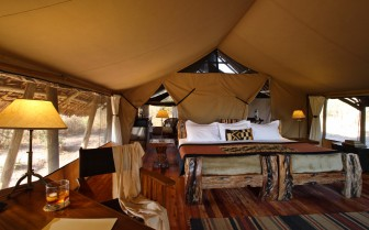 Interior design of Jongomero tents