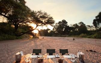 Dining setting at Jongormero, luxury hotel in Tanzania