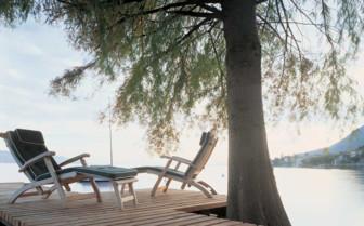 Sun chairs at the lake