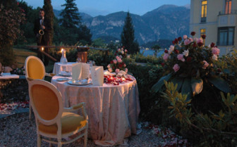 Private dinner table on the terrace