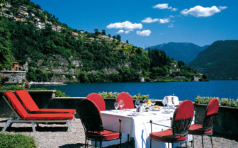 Terrace at Villa D'Este, luxury hotel in Italy