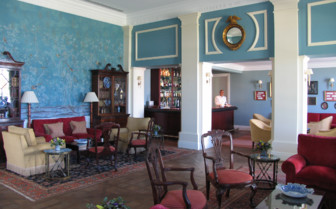 The lounge bar area at Finca Cortesin, luxury hotel in Spain