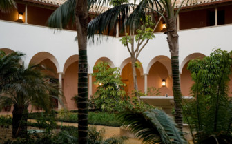 Courtyard at Finca Cortesin, luxury hotel in Spain
