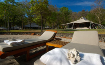 Picture of Beach Sun Loungers at Amanwana