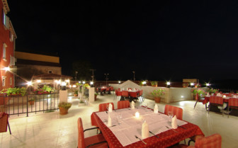 The terrace at the hotel