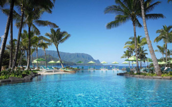 The swimming pool at  St. Regis Princeville