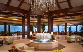 The lounge at St. Regis Princeville