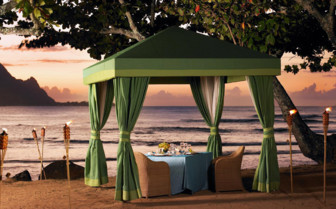 Private beach dining at the hotel