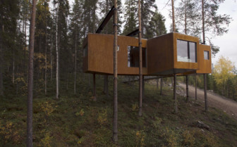 Exterior at Treehotel, luxury hotel in Sweden