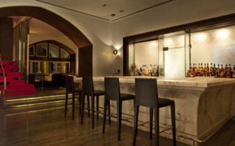 The bar at The Taj Mahal Palace, luxury hotel in Mumbai