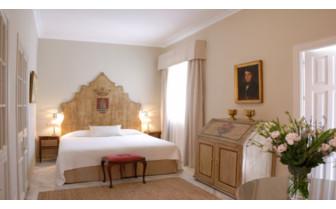Big bedroom at Casa No 7, luxury hotel in Seville, Spain