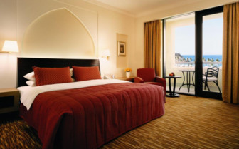 Bedroom at Shangiri- La Barr al Jissah, luxury hotel in Muscat, Oman