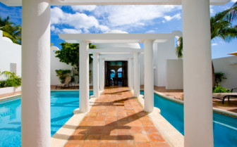 The pool villa architecture at Cap Juluca hotel