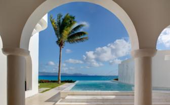 The infinity pool at Cap Juluca hotel
