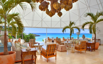 Under Dome Terrace at Cap Juluca, luxury hotel in Anguilla