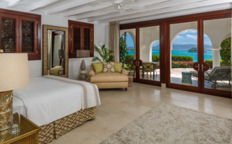 Large suite bedroom at Cap Juluca, luxury hotel in Anguilla