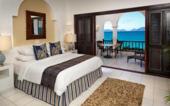The villa bedroom at Cap Juluca hotel