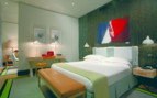 The junior suite bedroom at Portrait Roma, luxury hotel in Italy