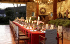Christmas dining table at the hotel