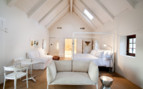 Studio bedroom at Babylonstoren, luxury hotel in South Africa