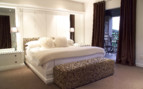 Luxury bedroom at Kensington Place hotel