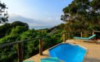 The ocean view pool at Thonga Beach Lodge