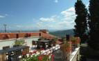 The back terrace at Hotel Kastel, luxury hotel in Croatia