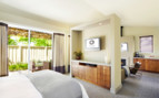 Luxury bedroom at Solage Calistoga, luxury hotel in Napa & Sonoma Valley