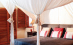 Bedroom detail at Phinda, luxury hotel in South Africa