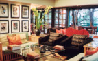 The lounge area at Phinda hotel
