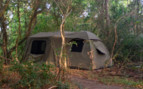 Double tent at the camp