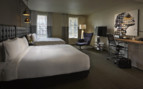 Large bedroom at Hotel Zetta, luxury hotel in Big Sur