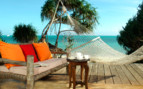 The terrace with hammock at Fumba Beach Lodge