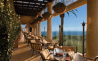Dining at the hotel terrace at The Resort at Pelican Hill