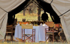 The dinner tent at Serian Serengeti, luxury camp in Tanzania