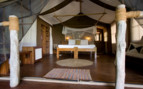 Picture of bedroom at Fundu Lagoon, luxury hotel in Africa