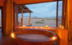 Jacuzzi with landscape view