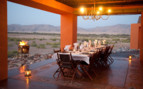 Dinnig at Okahirongo Elephant Lodge, luxury Lodge in Namibia