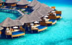 Aerial view of Baros Maldives, luxury hotel in the Maldives