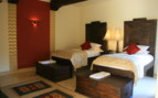 Twin bedroom at Mihir Garh hotel
