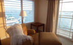 View from bedroom at Anderson Inn, luxury hotel in Morro Bay, Big Sur