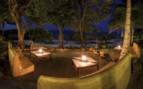 Picture of the seating area at night at Pole Pole Hotel, Tanzania
