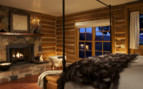 Cosy bedroom at the Brush Creek Ranch