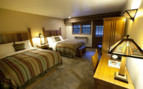 Double bedroom at Zion Lodge, luxury hotel in the Great American Wilderness