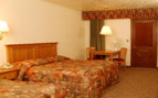 Double bedroom at Bryce Canyon Lodge, luxury hotel in the Great American Wilderness