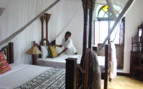 The twin bedroom at The Swahili House