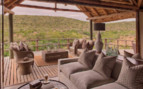 The terrace lounge at Kwandwe Private Game Reserve, luxury safari lodge in South Africa