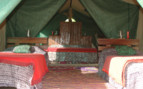 The family tent with twin beds